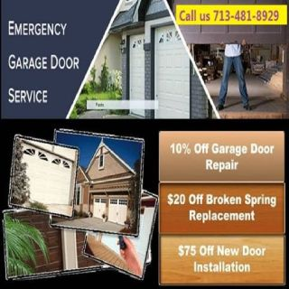 #1 Garage door repair Service $25.95 - Houston 77008 Texas