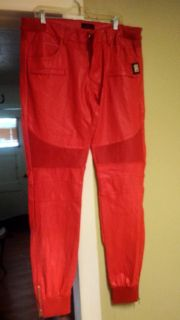 Mens leather Forte pants sz 2xlg