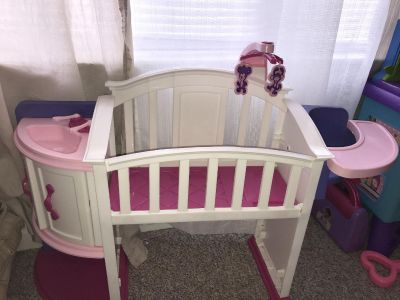 Doll bed/High chair $5