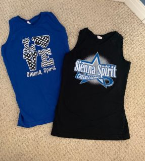 GIRLS SIZE LARGE (12): Sienna Spirit Cheer Tanks