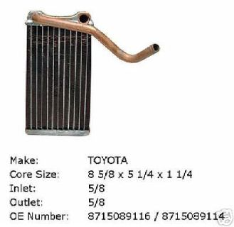 Find 89 90 91 92 93 94 95 TOYOTA PICK-UP HEATER CORE NEW motorcycle in Denton, Texas, United States, for US $119.00
