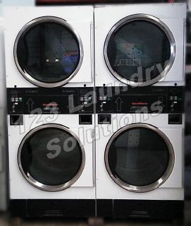 For Sale Double Stack Speed Queen Dryer STT30NBCB2G2W01 120v 60Hz (White) Used