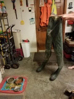 RUBBER HIP WADERS!