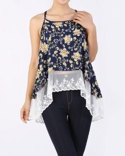 Lace Navy Blue Top