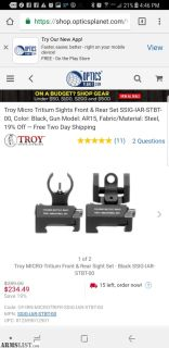 For Sale/Trade: Troy iron sights
