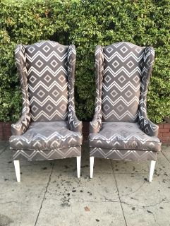 Contemporary Wing Chairs