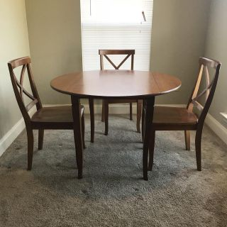 Round Table with 3 Matching Chairs