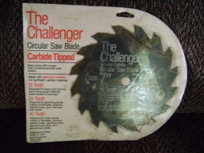 The Challenger carbide tipped circular saw blade.