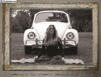 VW Yoga Simplicity Poster B - Seated