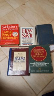 Lot of 7 dictionaries hard cover