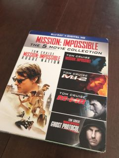 Mission Impossible 5 movie Blu-Ray Collection.