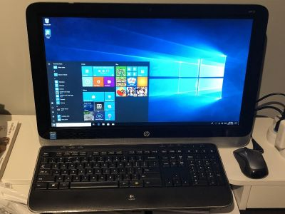 HP All-in-One PC 21.5 Touch Support w/ Logitech Keyboard and Logitech Mouse