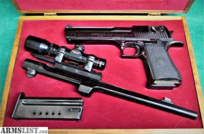 For Sale: Magnum Research Inc Desert Eagle - 41/44 In Case W/2 Barrels & Scope