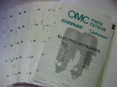 Purchase 1988 OMC JOHNSON EVINRUDE PARTS CATALOG ELECTRIC TROLING TO 300HP OUTBOARD MOTOR motorcycle in Walnut Creek, California, United States, for US $3.99