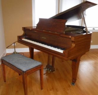 Sale Pending - Antique Chickering Grand Piano w/padded Bench ~ Beauty