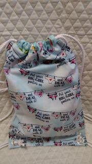 Big Girl Panties Cotton Backpack. Handmade great for girlfriend gift.