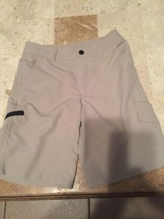 Excellent condition, boys size med (8-10) brand JK cargo shorts in fish shirt material.