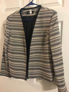Metallic stripe blazer