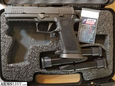 For Sale: Sig p320 X5 w/ 4 - 21 round mags W/Extra Grip Module