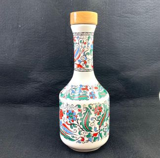 S&E Metaxa Hand Made Porcelain Decanter & Lid