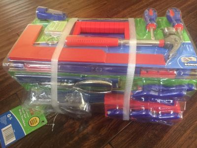 Create learn 18 piece tool set with toolbox