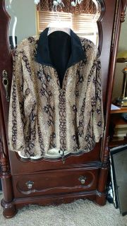 SPARKLY ALL NIGHT.... Size 1X - Fully Lined, Light Weight Jacket