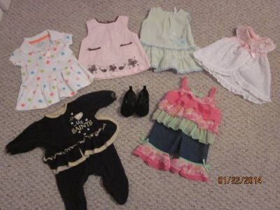 Assorted Baby Girl Clothes (0-6 months)