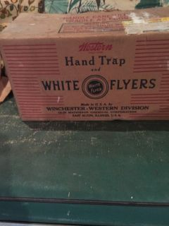 Winchester Western Division Hand Trap and White Flyer