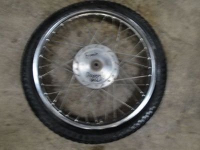 Sell 74 1974 YAMAHA 125 ENDURO MOTORCYCLE BODY FRONT WHEEL TIRE 3.00-19 motorcycle in Millville, Utah, United States, for US $81.39