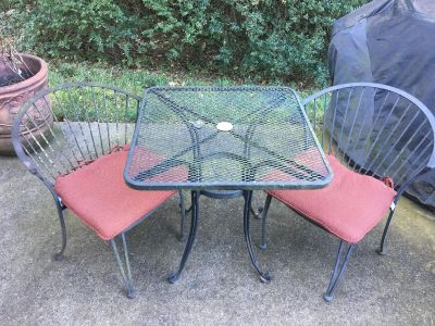 Metal Patio Set w/ cushions ALL for 50$