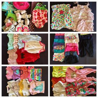 12 months baby girl clothes 78 pieces