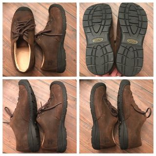 Men s size 10 Keen brown leather shoes