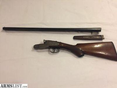 For Sale: Enders Royal Service SxS 20 Gauge Double Barrel Shotgun. Hammerless