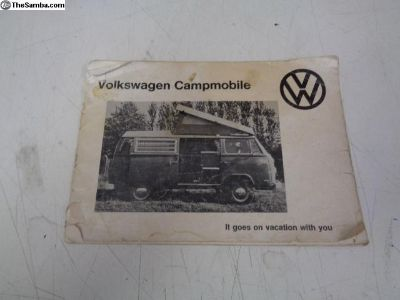 1973 Camp Mobile Owners Manual