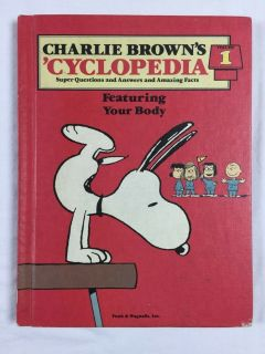 Vintage 1980 Charlie Brown's Cyclopedia Volume 1 Hard Cover Book Featuring Your Body