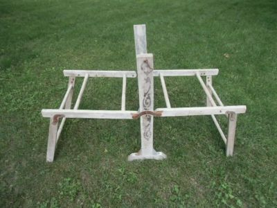 rare antique washtub holder frame for square galvanized tubs stand foldable