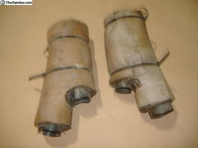 VW Bug heater tubes under back seat 58-74 yr