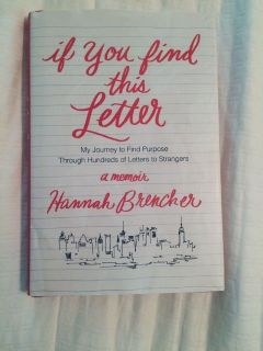 If You Find This Letter Hardcover Book $5