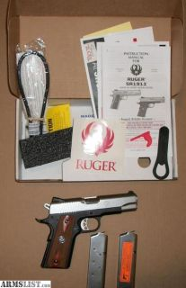 """For Sale/Trade: New in box Ruger 1911 .45acp The Commander size Has the 4.25"""" barrel"""
