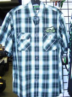 Purchase Arctic Cat Plaid Pit Shirt Aircat Arcticwear Snowmobile Adult ZR XF ATV UTV motorcycle in Grimes, Iowa, United States, for US $44.99