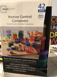 New portion control containers