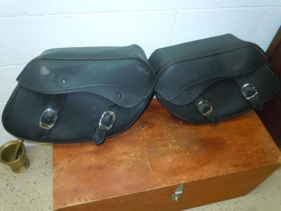 Purchase Harley Davidson Dyna Leather Saddlebags Rat Rod motorcycle in Reston, Virginia, US, for US $59.95
