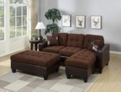 Sectional with ottoman $650