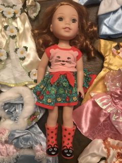 American girl Well wishes doll with clothes