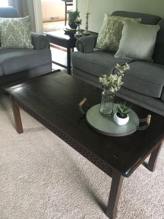 Pier 1 coffee table and end table