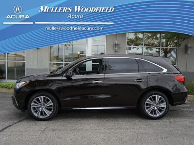2018 Acura MDX SH-AWD w/Tech (Black Copper Pearl)