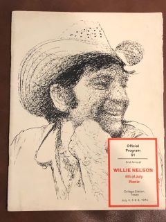 Vintage WILLIE NELSON 4th of July Picnic program 1974