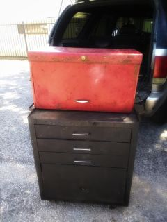 Stackable tool box on wheels