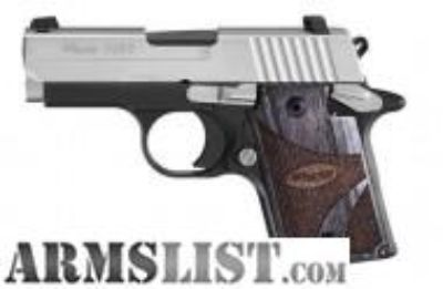 For Sale: SIG SAUER P938 BLACKWOOD 9mm 938-9-BG-AMBI