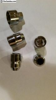 "Chrome Cone Seat Wheel Locks 1/2"" - 20 Thread"